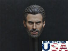 "1/6 Chris Evan Captain America Head Sculpt For 12"" Hot Toys PHICEN Male Figure"