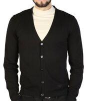 EMPORIO ARMANI Herren Cardigan Strickjacke Sweater schwarz NP 225€ ETIKETT!
