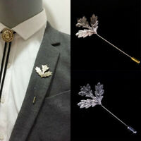 Fashion Maple Leaf Stick Breastpin Lapel Pin Brooches For Men's Suit Accessories