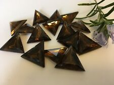Vintage Sew Triangle Rhinestones 20mm Topaz Pack of 5 CRAFT Post Free