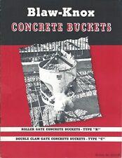 Equipment Brochure - Blaw-Knox - Discharge Concrete Buckets - Crane Use (E5146)