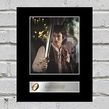 Elijah Wood, Frodo Baggins Signed Mounted Photo Display Lord of the Rings #1