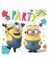 MINIONS DESPICABLE ME 3 LUNCH NAPKINS PACK OF 16 PARTY FAVOURS SUPPLIES