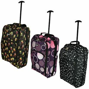 Cabin Hand Luggage Trolley Bag Small Travel Flight Suitcase Holdall Wheeled