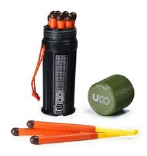 Stormproof Long Burn Matches 12ct w/ Waterproof Case and Extra Striker UCO Titan