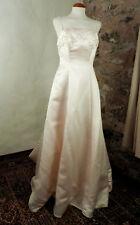 Pastel Peach Satin Strappy Wedding Dress and Bodice  by Amanda Wyatt  Size 12