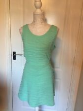 Ladies Green Dress Skater Cut Out Size 16 Holiday Summer Green