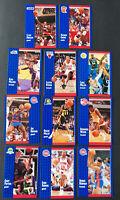 NBA Superstar HOF Lot 1991 Fleer-Pippen, Payton, Isiah, Rodman + more (11 Cards)