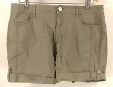 Womens DKNY Jeans Olive Green Rolled Soft Thin Shorts - Size 14