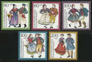 Germany 1993 MNH - Traditional Costumes (I) Foehr Ruegen Oberndorf Schwalm