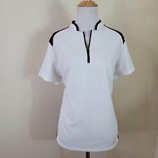 New listing IZOD Perform-X Cool FX White Textured Short Sleeve Golf Shirt Size XL 1/4 Zip