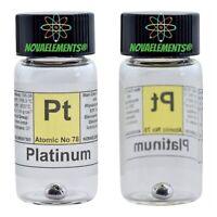 Pt Platinum metal element 78 sample ~0.5 grams 99,99% in labeled glass vial