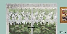 Creative Linens Grapes Knitted Lace Kitchen Curtain Valance Ivory 1PC New 3075