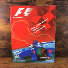 1998 MELBOURNE FORMULA 1 GRAND PRIX OFFICIAL PROGRAM F1 AUSTRALIAN FIA FWC