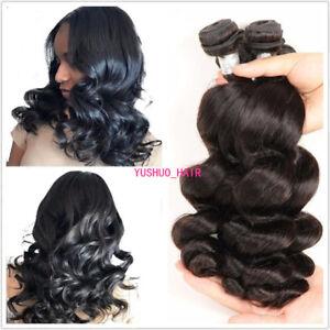 Loose Wave 100% Human Hair Weft Extensions 200g/4Bundle Indian Virgin Hair Weave