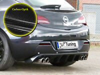 Diffusor Heckansatz Heckschürze mit PDC ABS für Opel Astra J GTC Carbon Optik