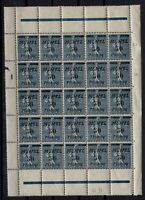 PP133406/ MEMEL – MI # 61 MINT MNH BLOCK OF 25 INCL # 61 IV – CV 220 $