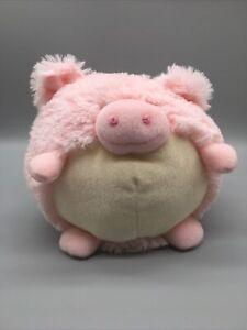 Multipet International Pink Pig Round Squeak Squishy Plush Stuffed Animal B6