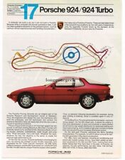 1982 Porsche 924 / Turbo  No. 17 in a Series Vtg Print Ad