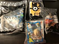 Lof Of 4 Fastfood Happy Meal Toy Avatar Peter Rabbit Despicable Deck Rugrats