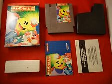 Pac-Man (Nintendo Entertainment System 1990) NES COMPLETE w Box manual Namco AB1