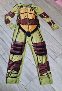 Boys All In One Suit Ninja Turtles Pajama Size 9-10 Years