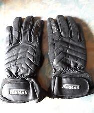 Gants Moto occasion bon état marque ASHMAN Taille S unisexe cuir et tissus
