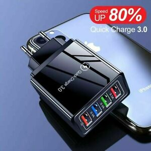 4in1 Quick Charge 3.0 Ladeadapter 3A Netzteil Schnell USB Ladegerät Charger Fast