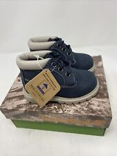 Vintage Timberland Toddler Boots Chukka Navy Blue 11839 Nbk New In Box Size 4