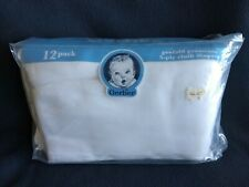 """New ListingVintage Gerber 5-ply Prefold Cloth Diapers Pack Of 12 14"""" by 20"""""""