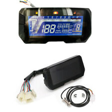 DC 12V Blue LCD Motorcycle Speedometer Odometer Tachometer with Sensor Cable