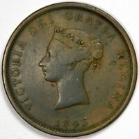 1843 CANADA 1 VICTORIA PENNY TOKEN - NEW BRUNSWICK - PRICED RIGHT!