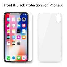 Apple iPhone XTempered Glass Screen Protector Front Black 5D Touch Transparent
