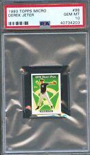 1993 Topps Micro #98 DEREK JETER Rookie PSA 10 GEM MINT New York YANKEES Rc