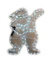 2 White Santa Rope LED Light Christmas Xmas Motif Silhouette Outdoor Decoration