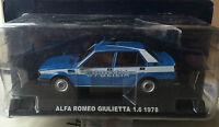 "DIE CAST "" ALFA ROMEO GIULIETTA 1.6 - 1978 "" POLIZIA SCALA 1/43"