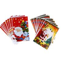 10Pcs Marry Christmas Gift Bags Santa Claus Packing Presents Xmas Party Decor