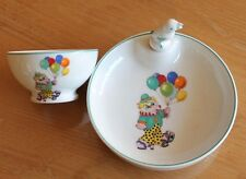 belle assiette a bouillie et son bol  pour bébé ( porcelaine pillivuyt )