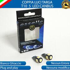 LUCI TARGA NISSAN MICRA II LAMPADE CANBUS T10 W5W 5 LED 6000K LUCE BIANCA
