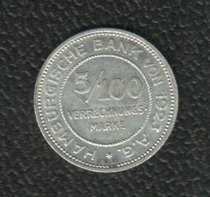 GERMANY 5/100MARKE 1923