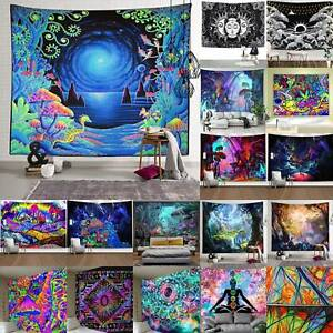 Psychedelic Wall Tapestry Throw Bedspread Hanging Livingroom Home Decor Blanket