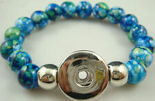 new Diy handmade jade beads Bracelet fit chunk  snap button hot sell free u6r96
