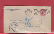 1908 Edward Short-paid to GERMANY T30 postage due= 6 cents Canada cover
