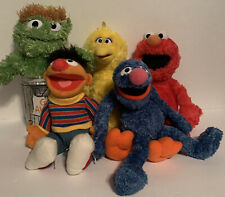"Sesame Street (10-13"") Plush Lot of 5 VGC ~ Oscar, Ernie, Grover, Elmo, Big Bird"