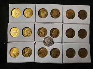 1996 NFL QUARTERBACK COINS / 19 Pinnacle Card Brass Coins and bonus