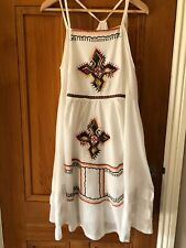 ZARA WOMENS DRESS BOHO HIPPIE STYLE  EMBROIDERED Size Medium