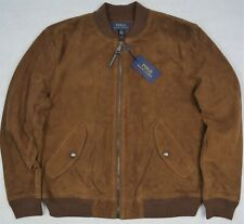 Polo Ralph Lauren Suede Bomber Jacket Country Brown Size XXL NWT $798