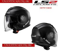 LS2 OF570 VERSO SINGLE CASCO JET MATT BLACK NERO OPACO DOPPIA VISIERA MIS. XXL