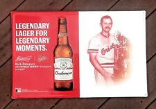 NEW Budweiser Baltimore Orioles Baseball Rick Dempsey Tin Metal Beer Sign