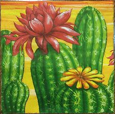 20 paper napkins for Decoupage Crafts or Collection Blumen Exotic Plants Cactus